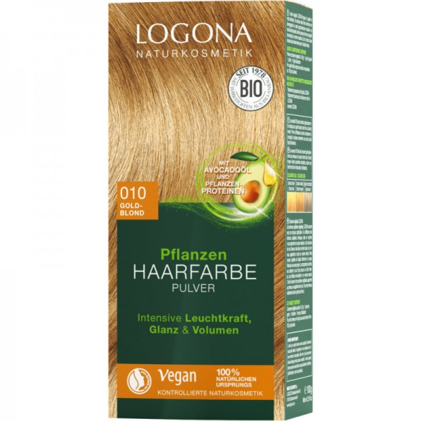 Pflanzen Haarfarbe 010 goldblond, 100g - Logona