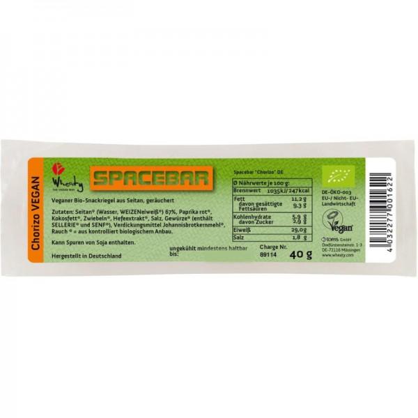 Spacebar Chorizo VEGAN Bio, 40g - Wheaty