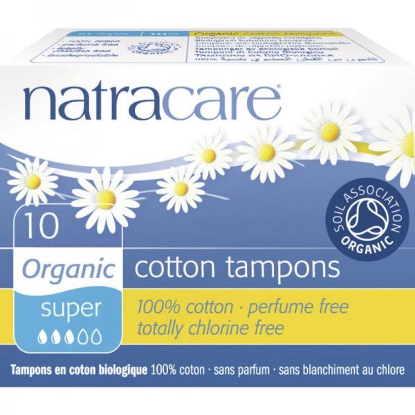 Tampons 'super' Bio-Baumwolle, 10 Stück - Natracare