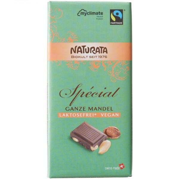 Spécial Ganze Mandel Schokolade Bio, (grün) 100g - Naturata