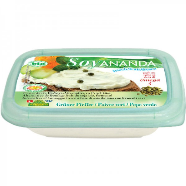 Grüner Pfeffer Frischkäse Soya-Alternative Soyananda Bio, 140g - Soyana