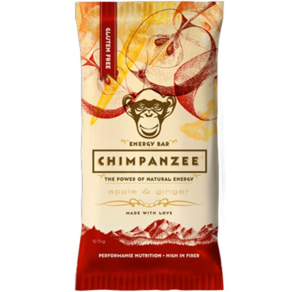 Energy Bar Apple & Ginger, 55g - Chimpanzee