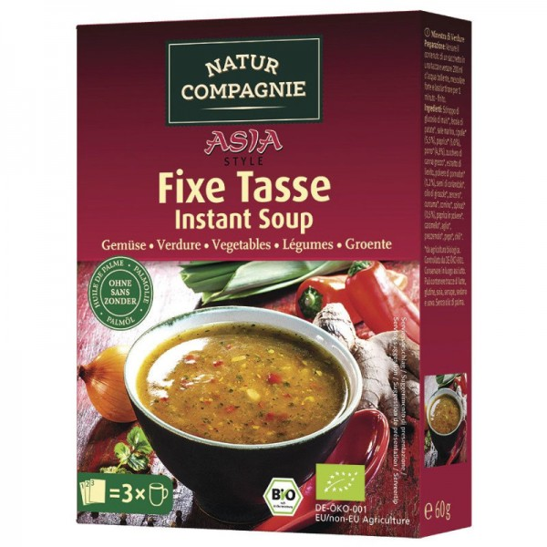 Fixe Tasse Asia Gemüse Bio, 3x20g - Natur Compagnie