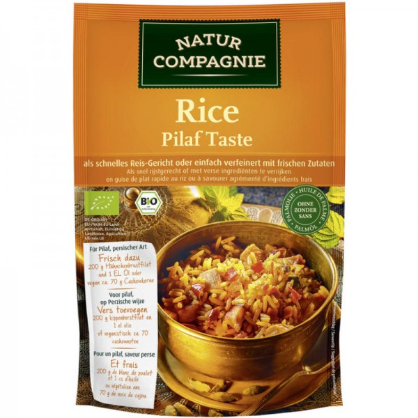 Rice Pilaf Taste Bio, 160g - Natur Compagnie
