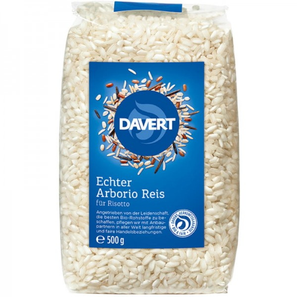 Echter Arborio Reis für Risotto Bio, 500g - Davert