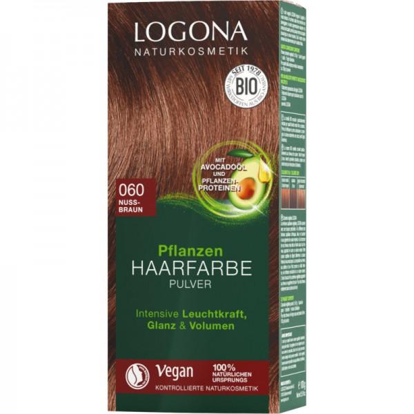 Pflanzen Haarfarbe 060 nussbraun, 100g - Logona