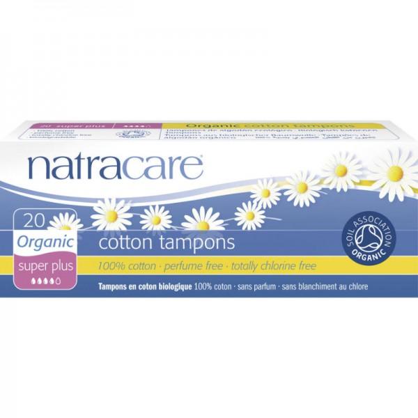 Tampons 'super plus' Bio-Baumwolle, 20 Stück - Natracare
