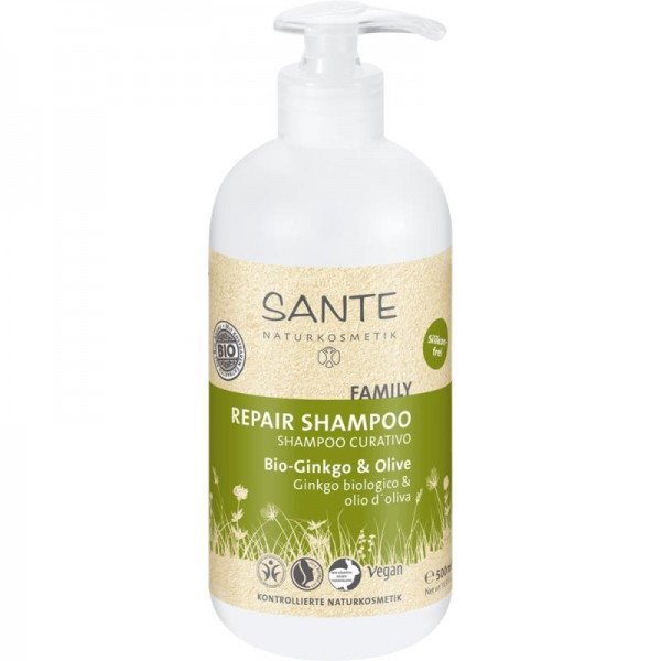 Family Repair Shampoo Bio-Ginkgo & Olive, 500ml - Sante