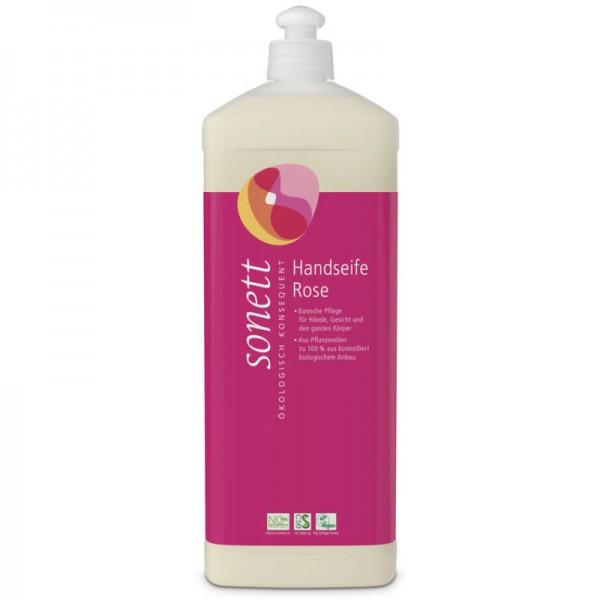 Handseife Rose Nachfüllflasche, 1L - Sonett