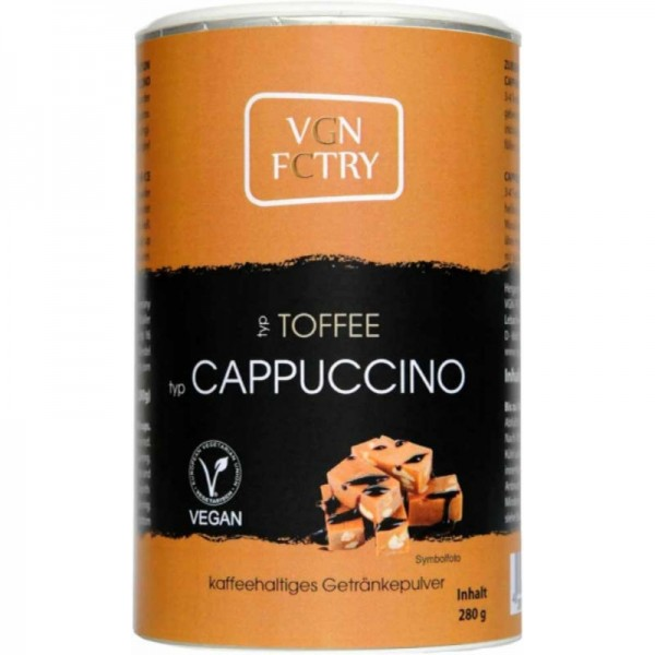 Instant Cappuccino Toffee, 280g - VGN FCTRY