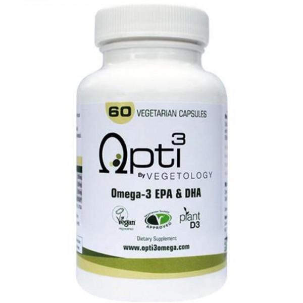 Opti3 Omega-3 EPA & DHA Kapseln, 60 Stück - Vegetology