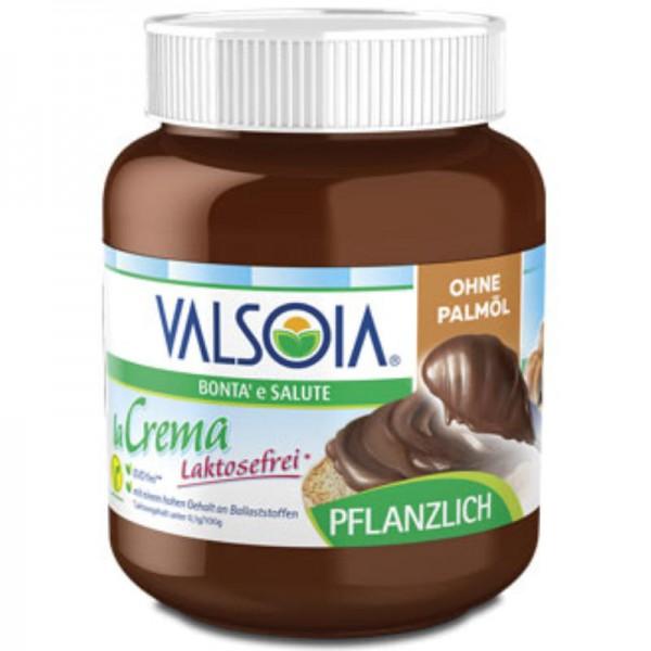 La Crema Schokoladen-Haselnuss-Creme Brotaufstrich ohne Palmöl, 400g - Valsoia