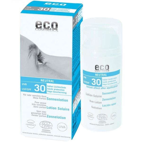 Sonnenlotion neutral ohne Parfum LSF 30, 100ml - eco cosmetics