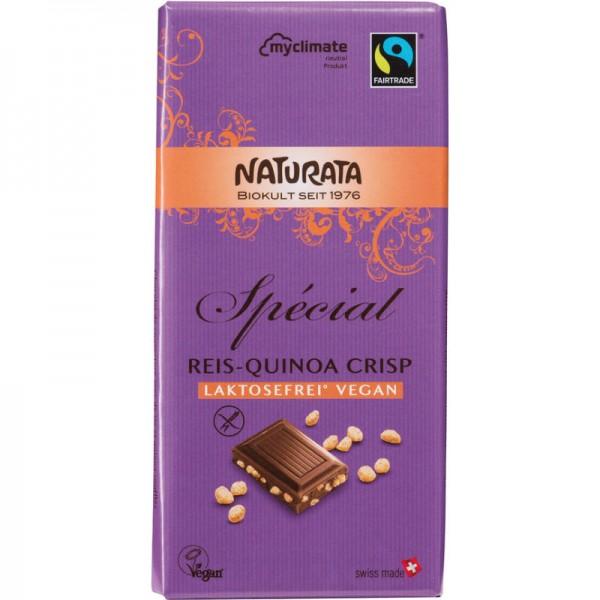 Spécial Reis-Quinoa Crisp Schokolade Bio, (violett) 100g - Naturata