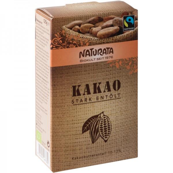 Kakaopulver stark entölt 10-12% Bio, 125g - Naturata