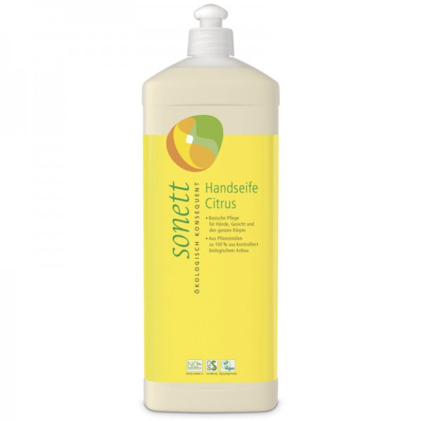 Handseife Citrus Nachfüllflasche, 1L - Sonett