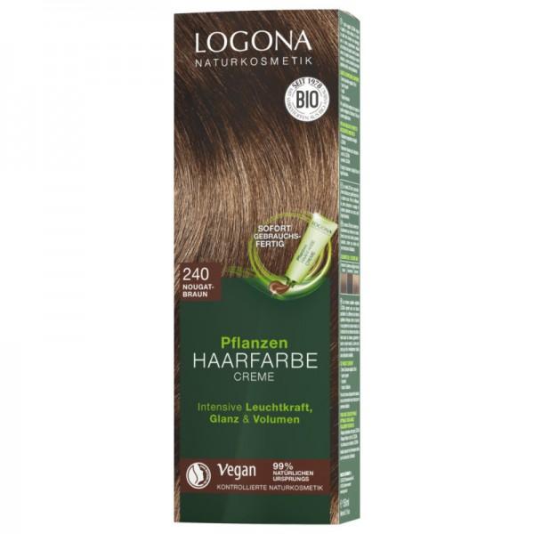 Pflanzen Haarfarbe Creme 240 nougatbraun, 150ml - Logona