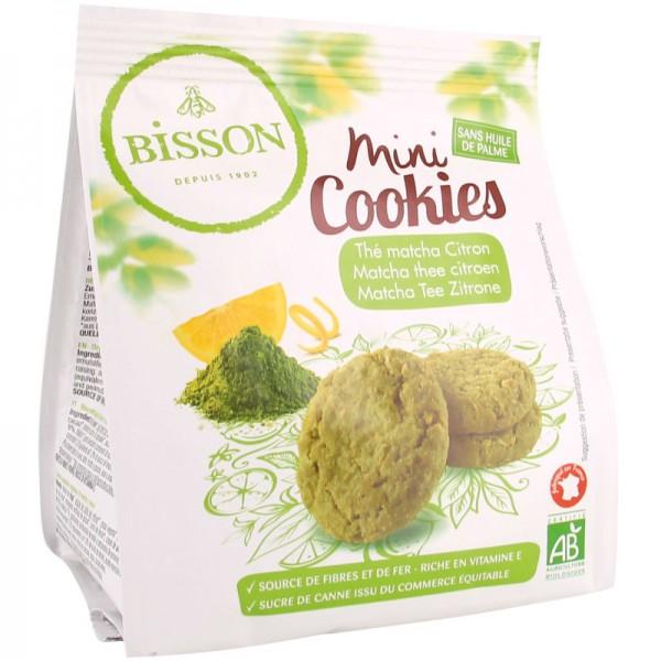 Mini Cookies Matcha Tee Zitrone Bio, 120g - Bisson
