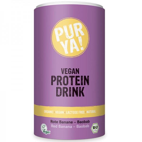 Protein Drink Rote Banane-Baobab Bio, 550g - PUR YA!