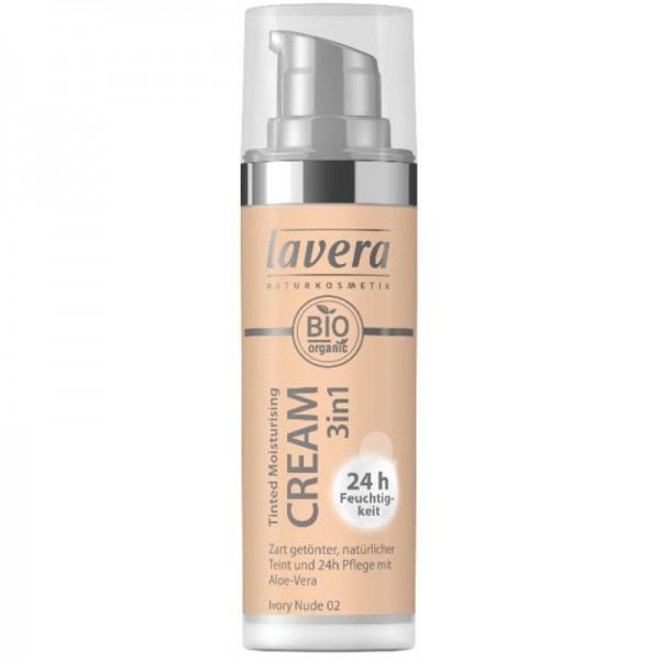Tinted Moisturising Cream 3in1 Ivory Nude 02, 30ml - Lavera