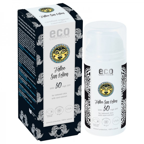 Tattoo Sonnenlotion LSF 30 mit Noni-Extrakt, 100ml - eco cosmetics