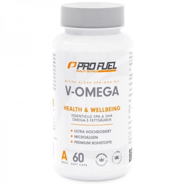 V-Omega 3 Fettsäuren Kapseln, 60 Stück - ProFuel