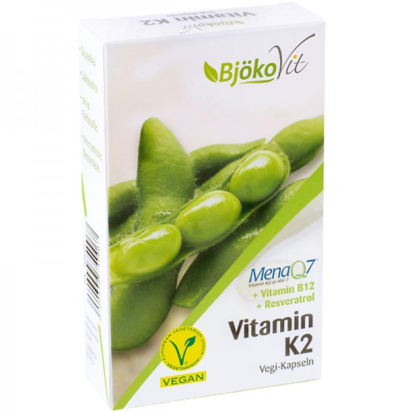 Vitamin K2 MK-7 + Vitamin B12 + Resveratrol, 60 Stück - BjökoVit