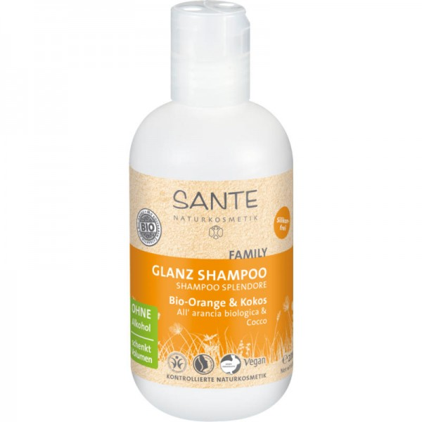 Family Glanz Shampoo Bio-Orange & Kokos, 200ml - Sante