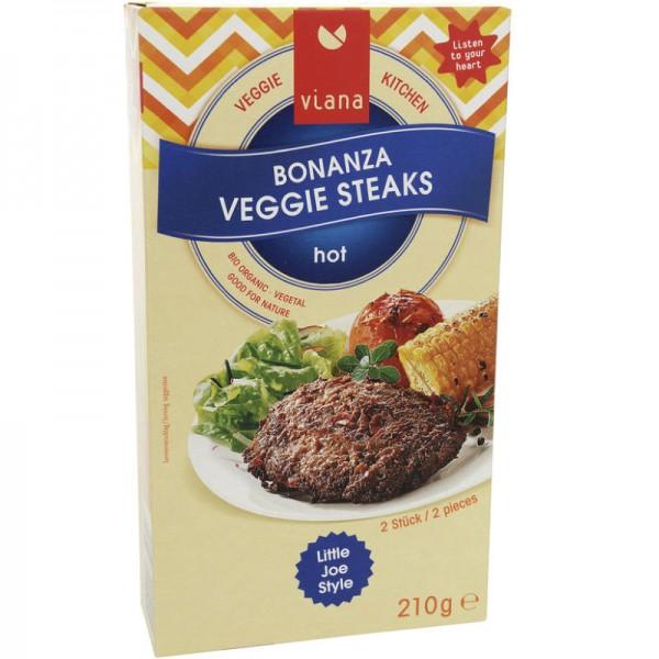 Bonanza Veggie Steaks Bio, 210g - Viana
