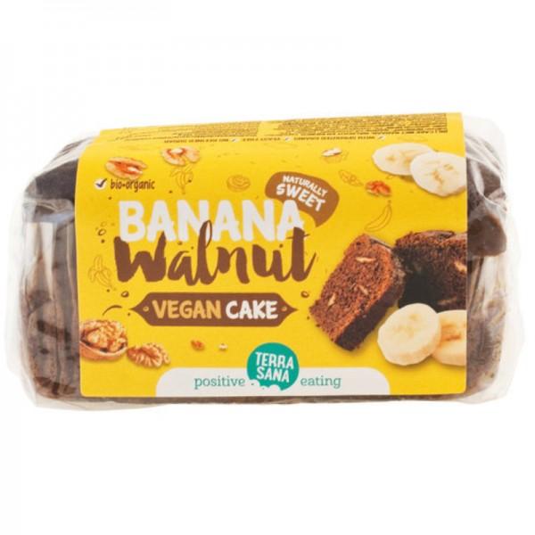 Vegan Cake Banana Walnut Bio, 350g - TerraSana