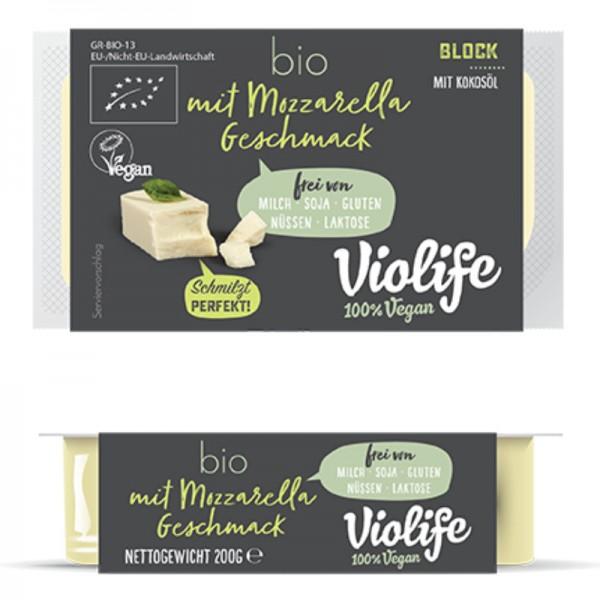 Block mit Mozzarella Geschmack Bio, 200g - Violife