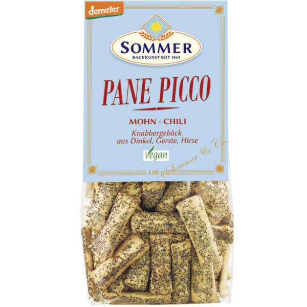 Mohn-Chili Pane Picco Bio, 150g - Sommer