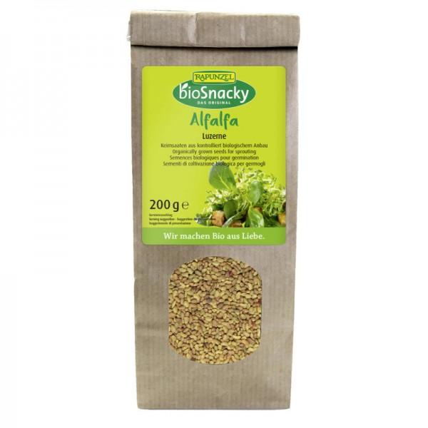 Bio Snacky Alfalfa Luzerne Bio, 200g - Rapunzel