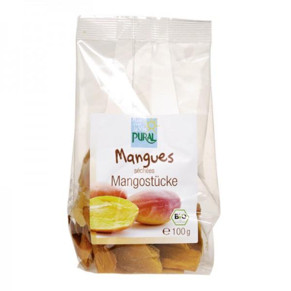 Mangostücke Bio, 100g - Pural