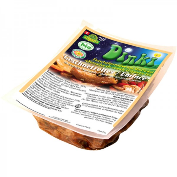 Dinki-Geschnetzeltes an neutraler Marinade Bio, 200g - Soyana