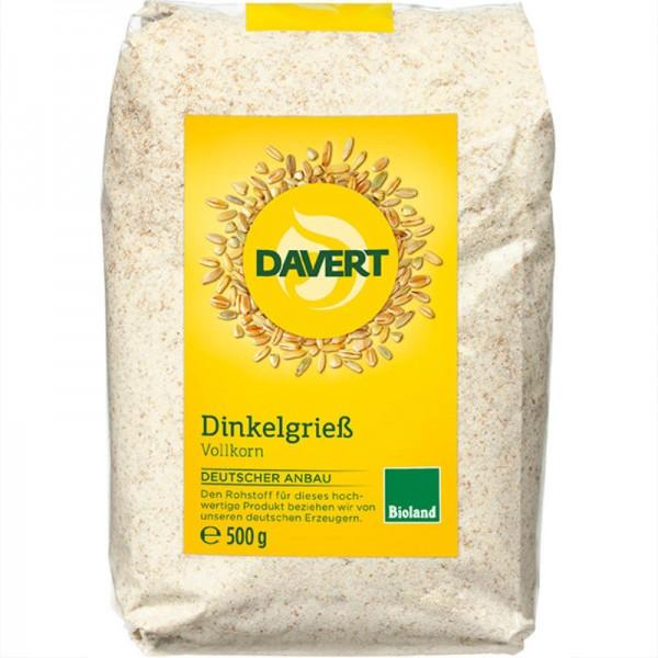 Dinkelgriess Vollkorn Bio, 500g - Davert