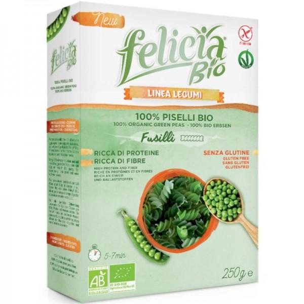Grüne Erbsen Fusilli Bio, 250g - Felicia
