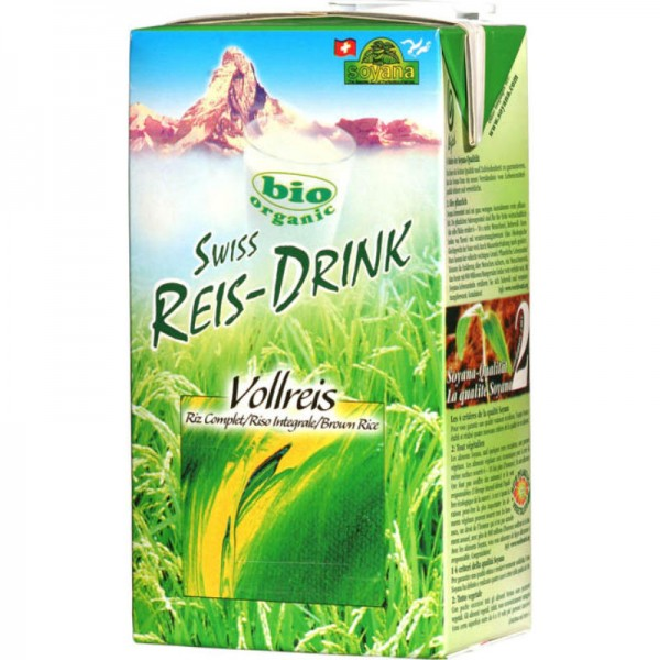 Vollreis Swiss Reis-Drink Bio, 1L - Soyana
