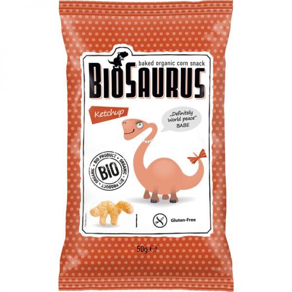 Gebackene Mais Chips Ketchup Babe Bio, 50g - BioSaurus
