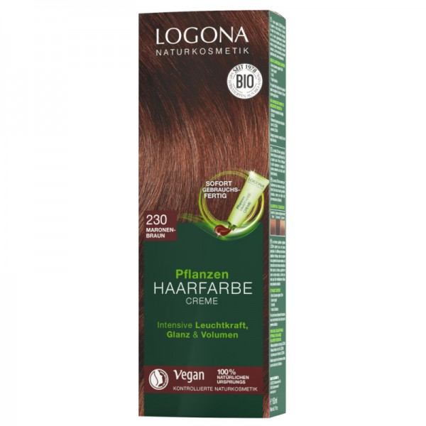 Pflanzen Haarfarbe Creme 230 maronenbraun, 150ml - Logona