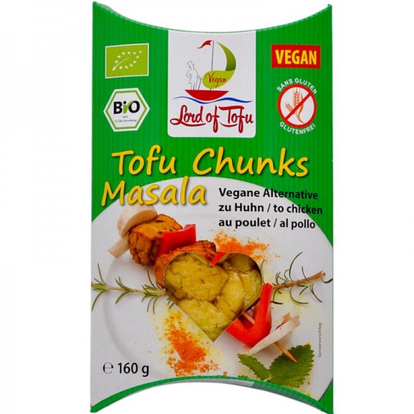 Tofu Chunks Masala Bio, 160g - Lord of Tofu