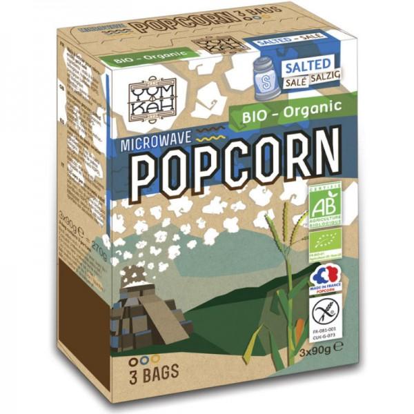 Popcorn salzig für die Mikrowelle Bio, 3x 90g - Yum Kah