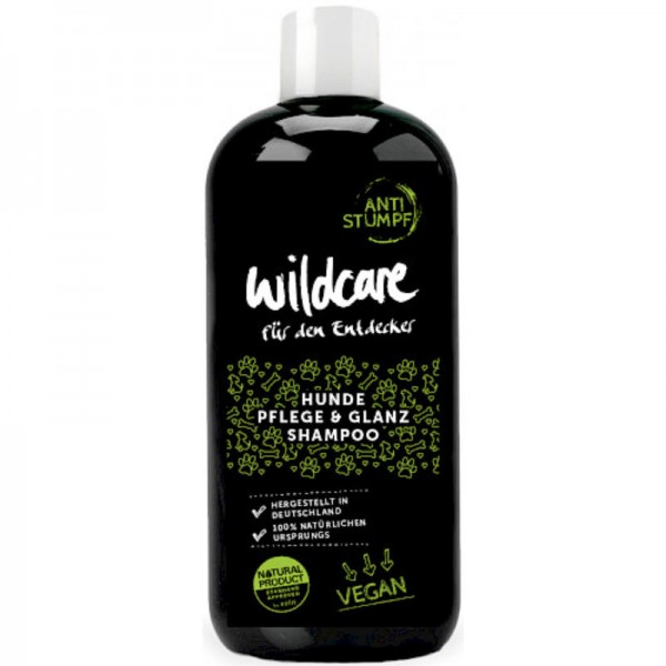Hunde Pflege & Glanz Shampoo 'anti stumpf', 250ml - Wildcare