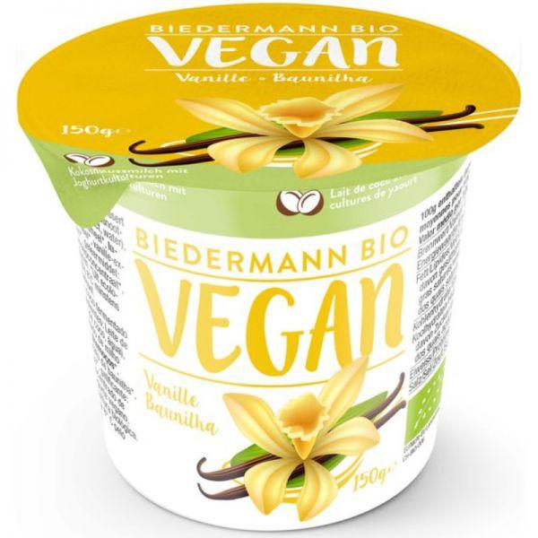 Kokosjoghurt mit Vanille Bio, 150g - Biedermann