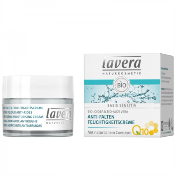 Anti-Falten Feuchtigkeitscreme Q10 basis sensitiv, 50ml - Lavera