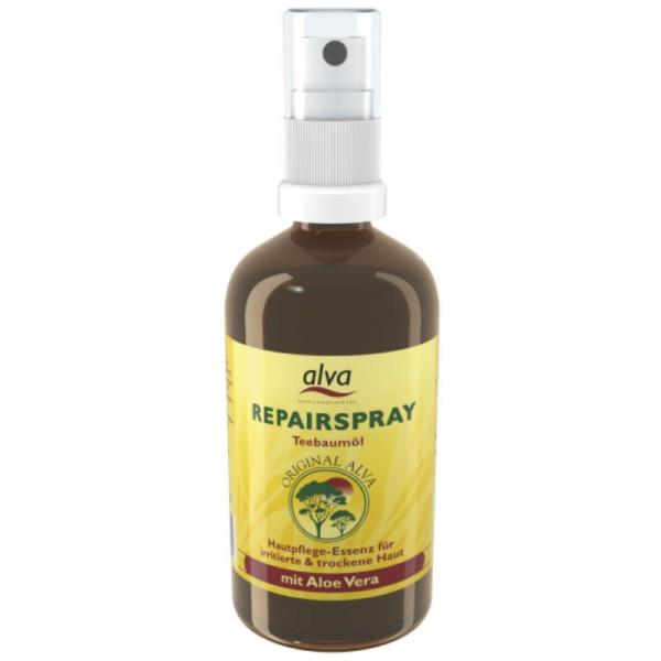"""Teebaumöl """"Repairspray"""" mit 94% Aloe Vera irritierte & trockene Haut, 100ml - Alva"""