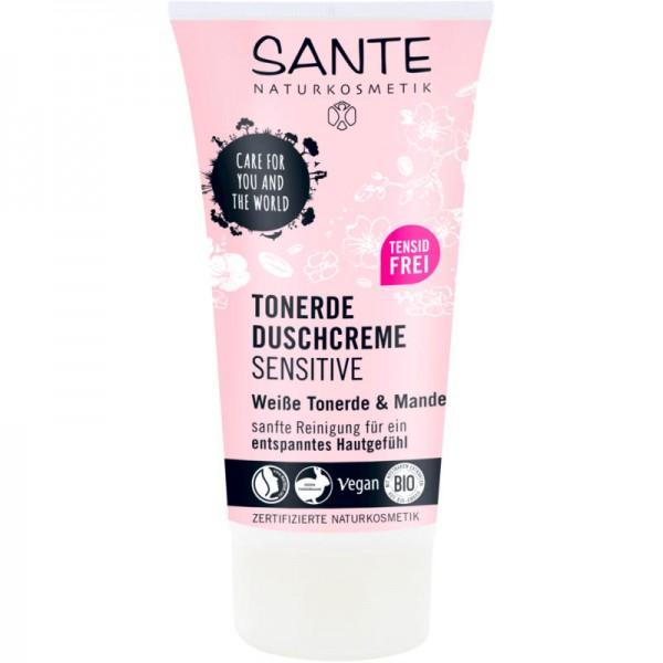Tonerde Duschcreme sensitive weisse Tonerde & Mandel, 150ml - Sante