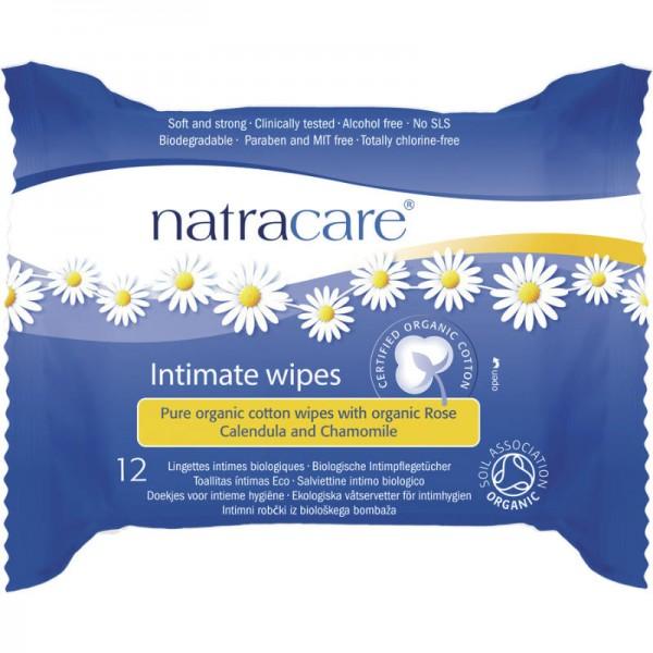 Intimpflegetücher Bio-Baumwolle, 12 Stück - Natracare
