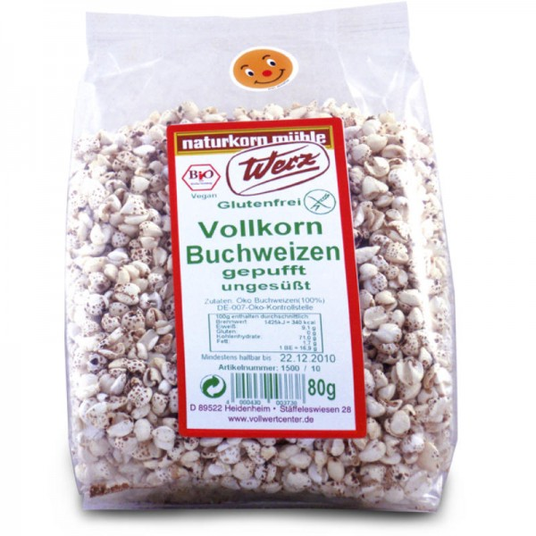 Vollkorn Buchweizen gepufft ungesüsst Bio, 80g - Werz