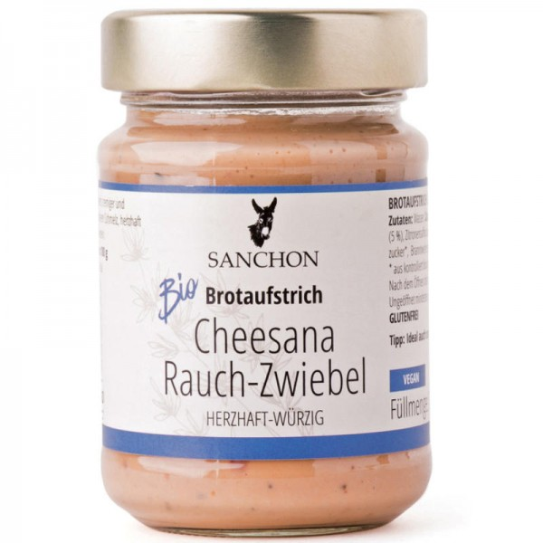 Cheesana Rauch-Zwiebel Brotaufstrich Bio, 170g - Sanchon